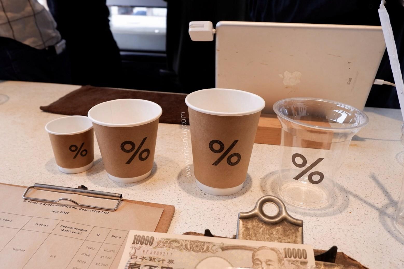menu %arabica coffee japan