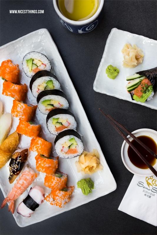 Bestes Sushi in Heidelberg Same Same Nigiri Futomaki Inside Out Rolls