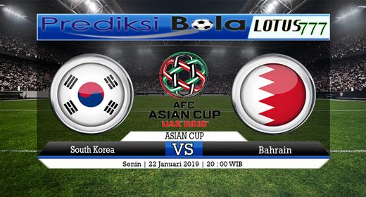 PREDIKSI  KOREA SELATAN VS BAHRAIN 22 JANUARI 2019