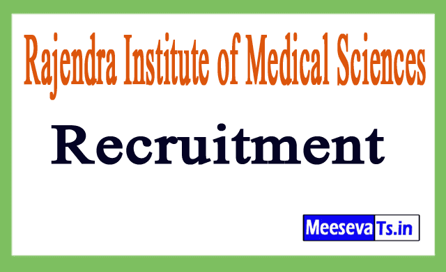 Rajendra Institute of Medical Sciences RIMS Recruitment