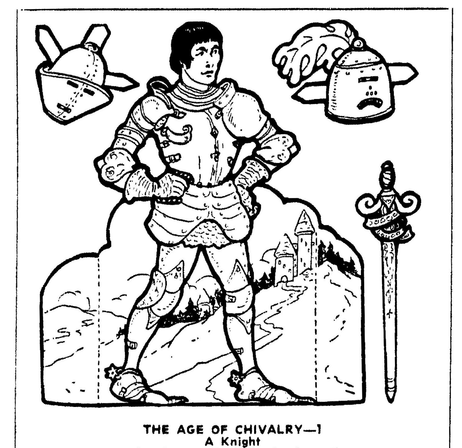 Mostly Paper Dolls Too!: THE AGE OF CHIVALRY Cut-Outs