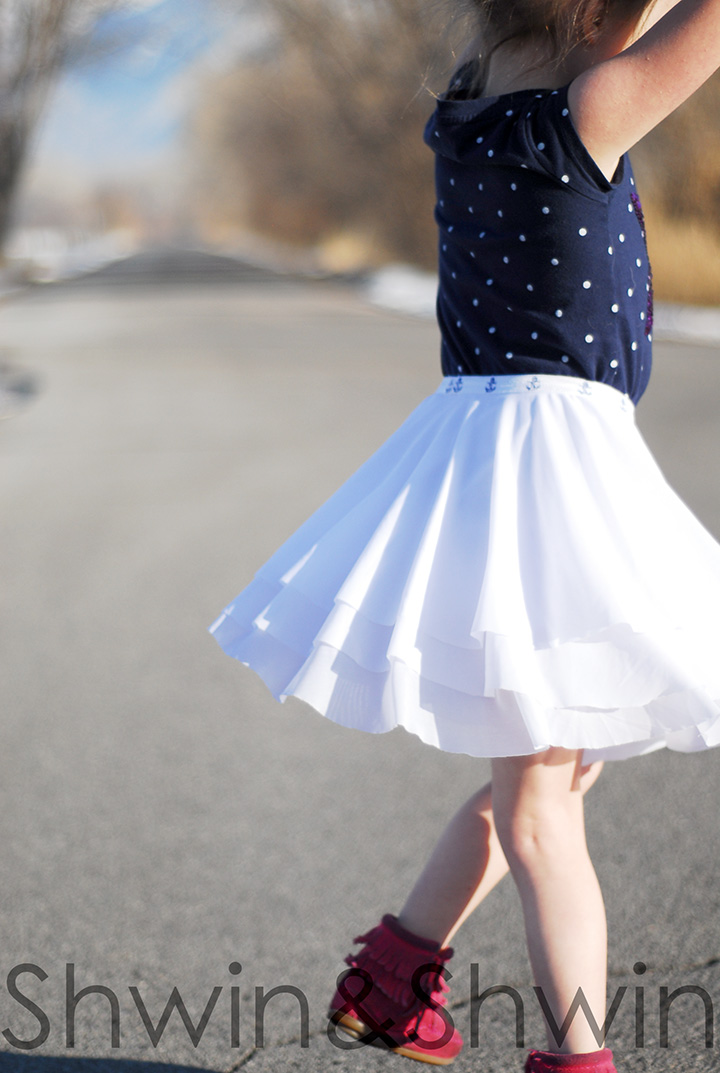 Layered Circle Skirt Tutorial Shwin And Shwin