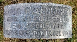 Grabstein von Hugo Wesendonck