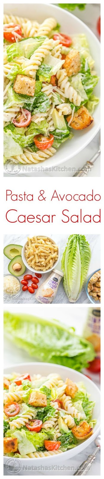 Pasta And Avocado Caesar Salad