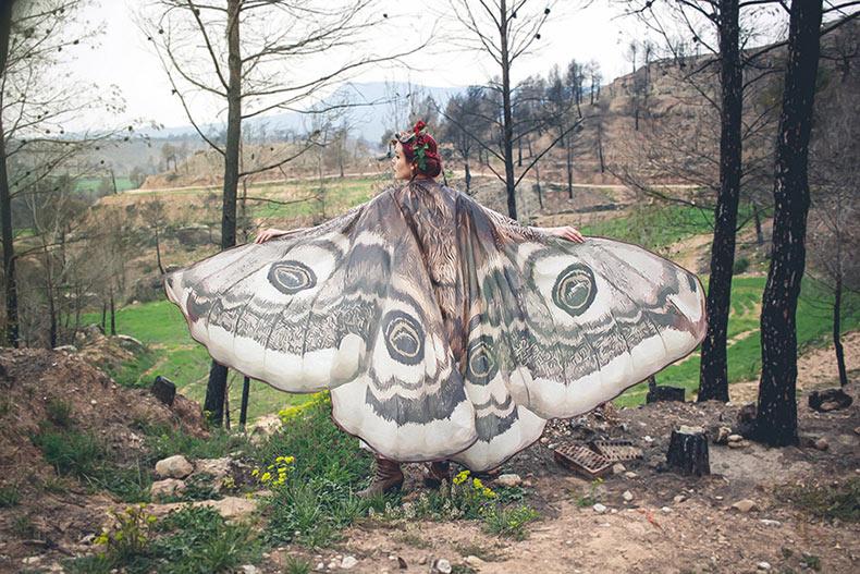 Bufanda Ala de la Mariposa realistas fabricadas a mano por Alassie