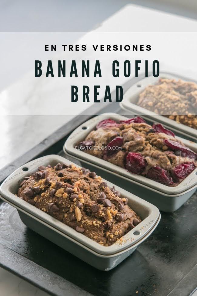 Cómo hacer banana bread con chocolate y gofio. Receta de www.elgatogoloso.com