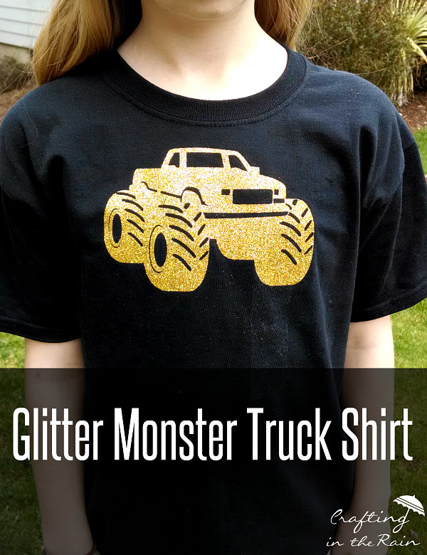 Glitter Monster Truck Shirts | Crafting in the Rain