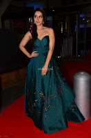 Raashi Khanna in Dark Green Sleeveless Strapless Deep neck Gown at 64th Jio Filmfare Awards South ~  Exclusive 015.JPG
