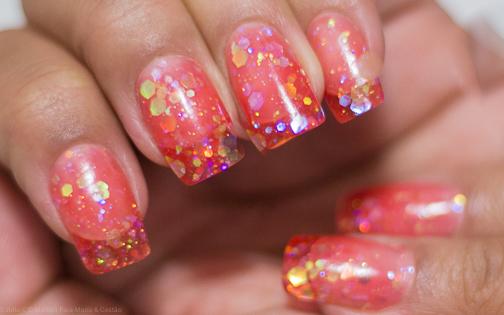 Alongamento de unhas com acrílico colorido na Classy Beauty Studio