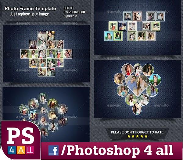 ملفات PSD لاطارات الصوربشكل جديد ومتميز  ولتصميم كفرات الفيس بوك وتعرض الصور بشكل متميز وابداعى وجذاب وغير مألوف
