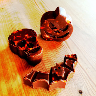 Halloween Chocolates made at home with Lidl Mold