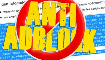 Script Anti AdBlock blogger