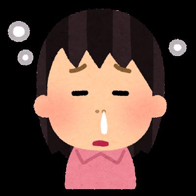 鼻づまりのイラスト(女性)