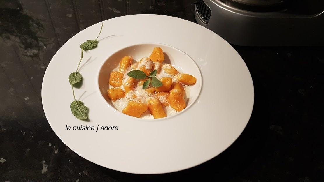 La cuisine j adore gnocchi de potiron et patate douce - Faire une emulsion en cuisine ...