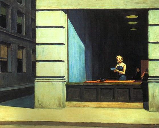 Escritório em Nona Iorque - Edward Hopper e suas principais pinturas ~ O pintor da solidão