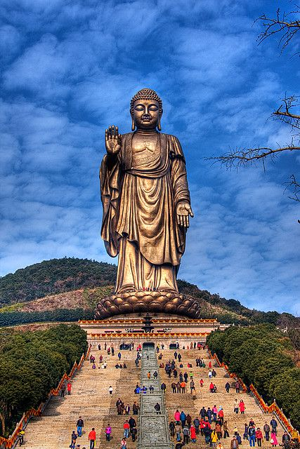 Buddha at Lingshan, Jiangsu, China