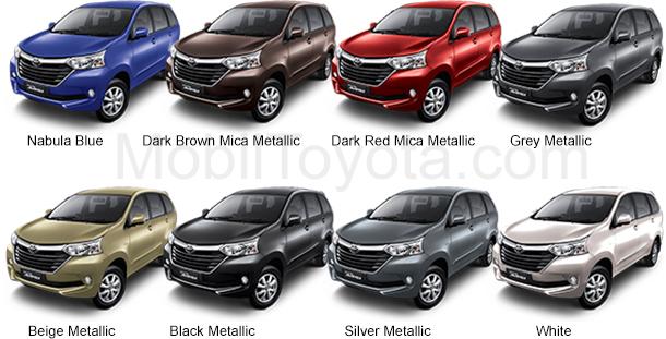 varian warna grand new avanza type e 2017 harga mobil toyota tipe g 2018 di jakarta pilihan