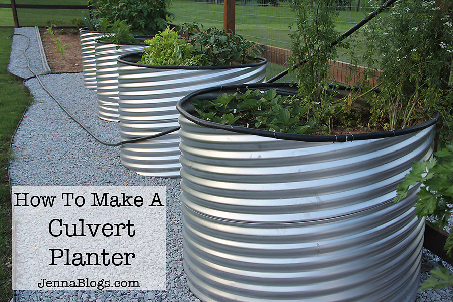 Jenna Blogs How To Make A Culvert Garden Planter