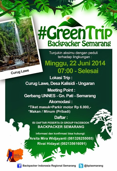 #GreenTrip Backpacker Semarang
