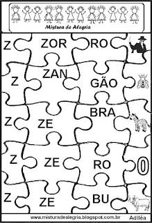Quebra-cabeça alfabetização