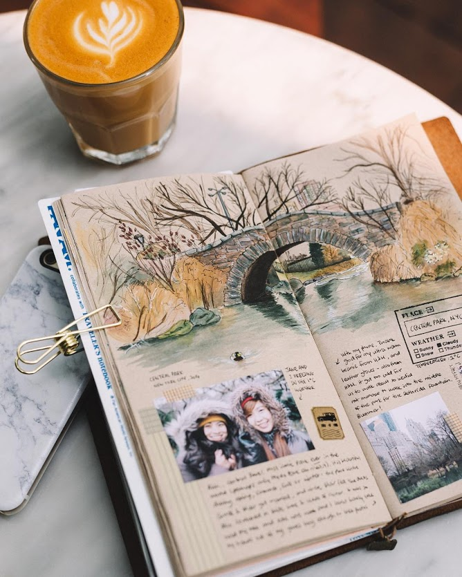 The journal diaries sharon 39 s art journal seaweed kisses for Minimal art journal