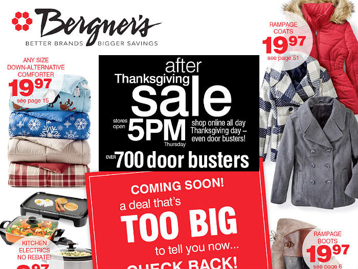 Bergners Black Friday 2017 Ad