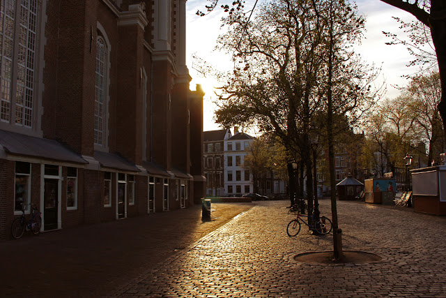 The Butterfly Balcony - Wendy's Week Liverpool to Amsterdam - Early morning near the Westerkerk Amsterdam