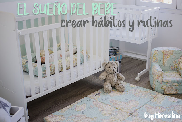crear hábitos y rutinas del sueño en los bebés y recién nacidos blog mimuselina colchoneta de suelo cuco bebé