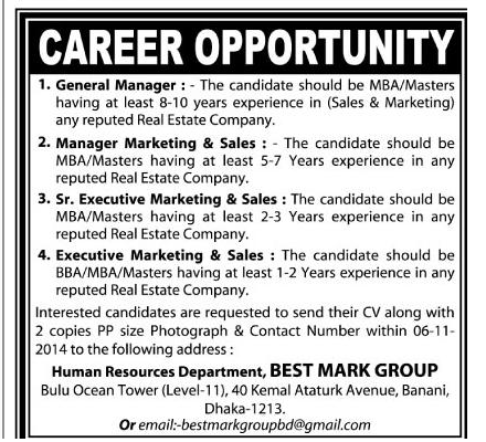 Career at Best Mark Group
