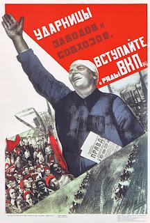 Un manifesto invita i contadini a iscriversi al partito comunista.