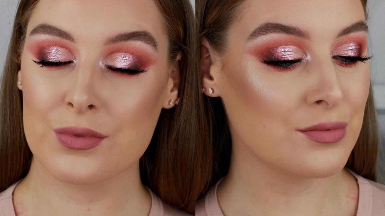 Rose Gold Prom Makeup Tutorial UK
