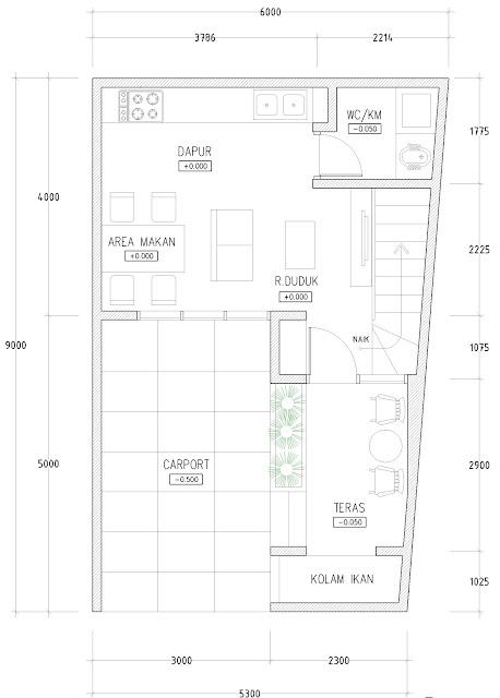 desain rumah minimalis di lahan sempit