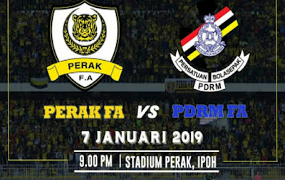 Live Streaming Perak vs PDRM FA 7.1.2019 Friendly Match