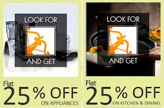 Flat 25% additional Off on Appliances and Kitchen & Dining Products at Pepperfry (For Today Only)