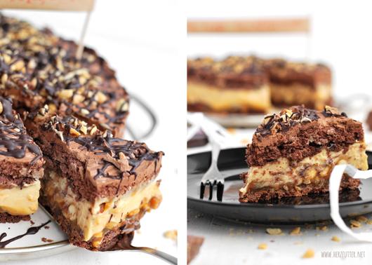 Herzfutter Food Blog Eine Snickerstorte Zum Geburtstag