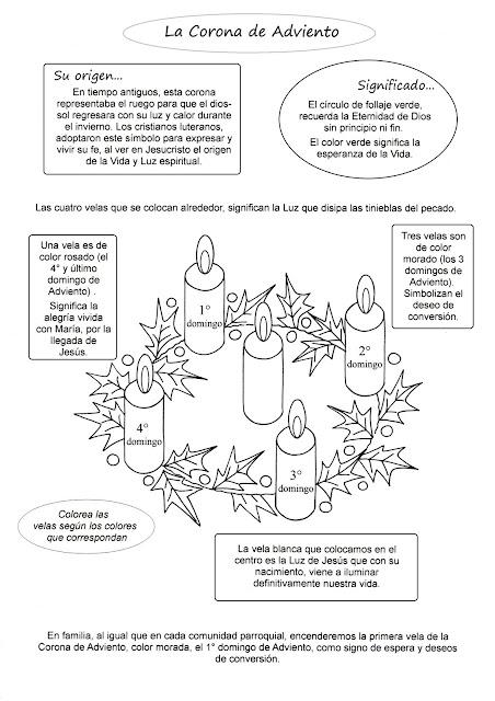 Puntadas de Adviento: Adviento para colorear