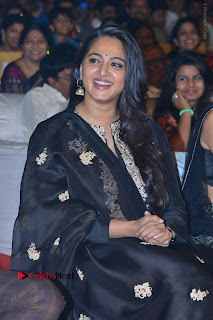 Actress Anushka Anushka Shetty Stills in Black Salwar Kameez at Om Namo Venkatesaya Audio Launch Event  0038.JPG