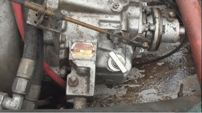 close up shot of gear box on a malibu skier boat
