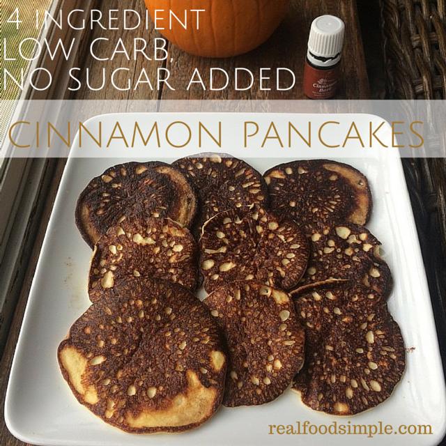 low carb, no sugar added, cinnamon pancakes   realfoodsimple.com