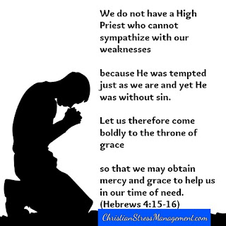 We do not have a High Priest who cannot sympathize with our weaknesses because He was tempted just as we are and yet He was without sin. Let us therefore come boldly to the throne of grace so that we may obtain grace to help us in our time of need Hebrews 4:15-16