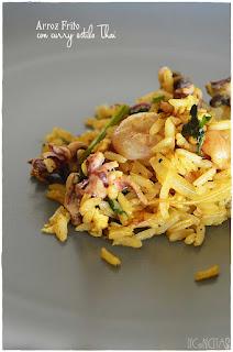 Arroz frito con curry estilo Tai