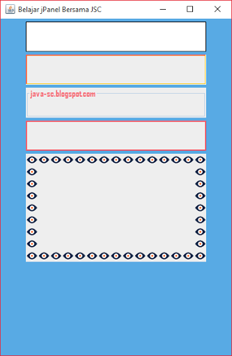 Gambar 2 - jPanel Pada Komponen Swing di Java