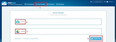 Transfer File pClod Ke Google Drive