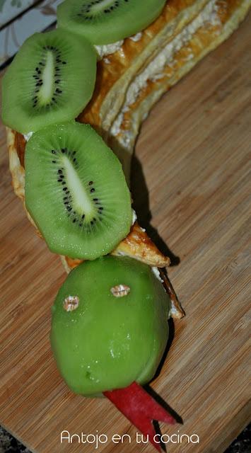 Serpiente De Hojaldre Y Kiwi