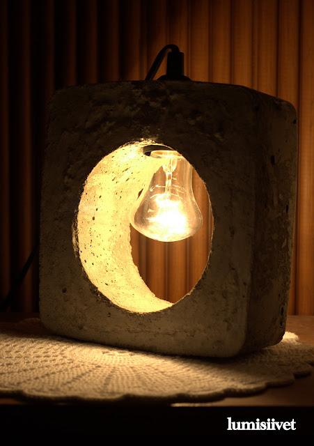 diy, betoniaskartelu, lamppu