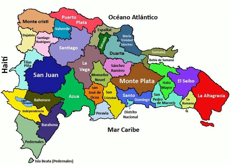 mapa republica dominicana Mapa de la República Dominicana   Meteorología RD mapa republica dominicana