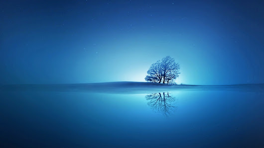 Blue Reflections ~ HD Wallpaper