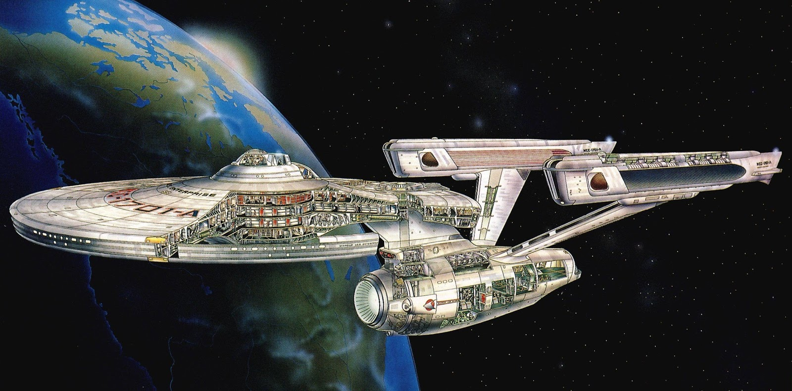 Uss Enterprise Diagram 1990 Mazda B2200 Radio Wiring The Wertzone Star Trek At 50 Ncc 1701 A