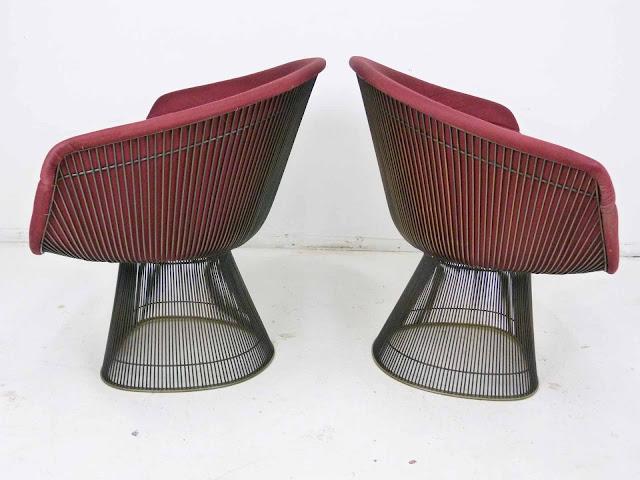Warren Platner for Knoll Bronze Wide Lounge Chairs 3
