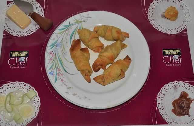 ricetta briosce porro e parmigiano